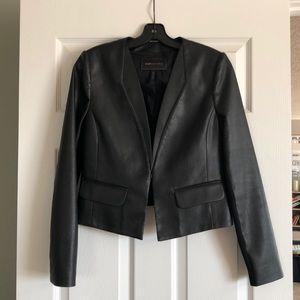 BCBG Faux Leather Bomber Jacket